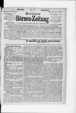 Berliner Börsen-Zeitung vom 17.06.1879