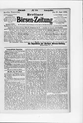 Berliner Börsenzeitung (19.06.1879)