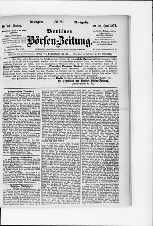 Berliner Börsen-Zeitung vom 20.06.1879
