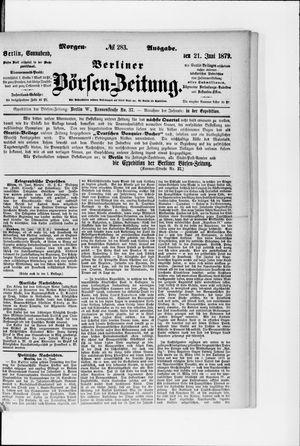 Berliner Börsen-Zeitung on Jun 21, 1879