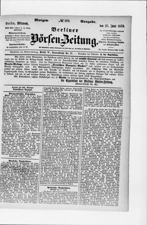 Berliner Börsen-Zeitung vom 25.06.1879