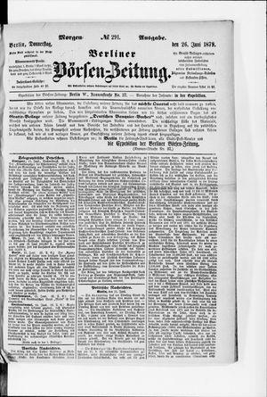 Berliner Börsen-Zeitung vom 26.06.1879