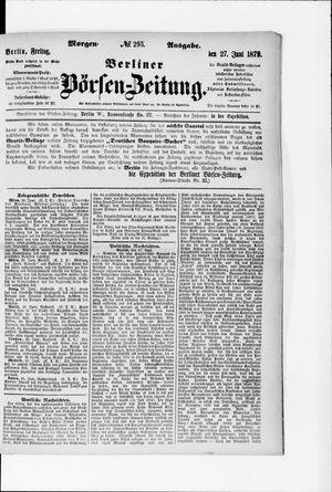 Berliner Börsen-Zeitung vom 27.06.1879
