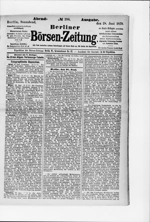 Berliner Börsen-Zeitung vom 28.06.1879