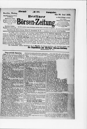 Berliner Börsen-Zeitung vom 30.06.1879