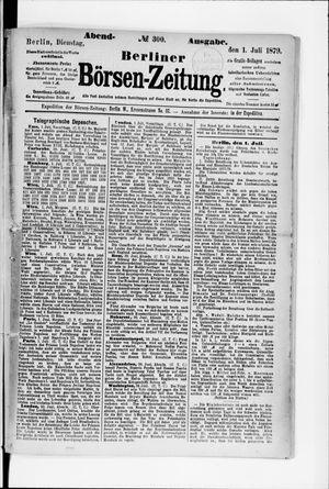 Berliner Börsen-Zeitung vom 01.07.1879