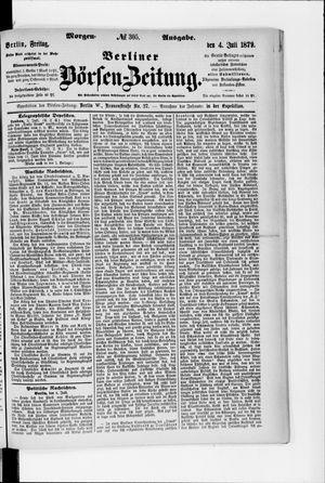 Berliner Börsen-Zeitung vom 04.07.1879