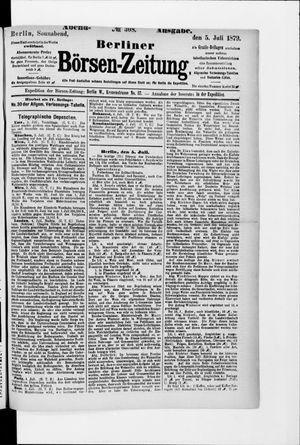 Berliner Börsen-Zeitung vom 05.07.1879