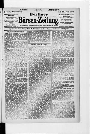 Berliner Börsen-Zeitung vom 10.07.1879