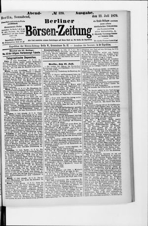 Berliner Börsen-Zeitung vom 12.07.1879