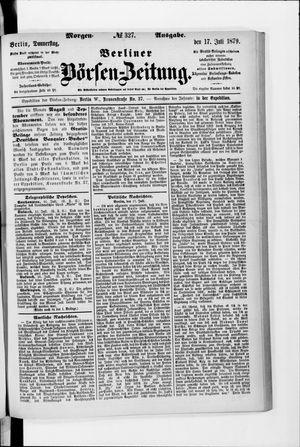 Berliner Börsen-Zeitung vom 17.07.1879