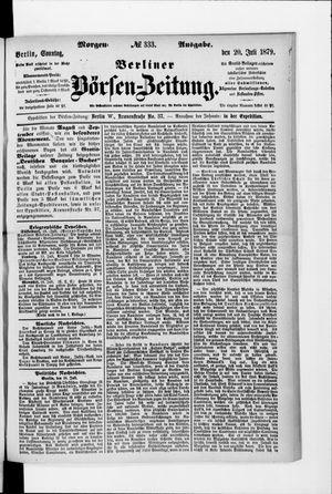 Berliner Börsen-Zeitung vom 20.07.1879