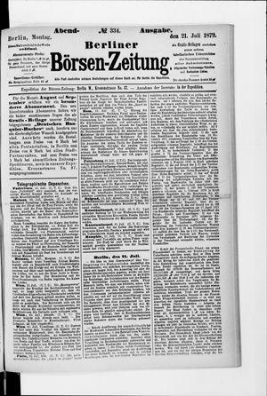 Berliner Börsen-Zeitung vom 21.07.1879