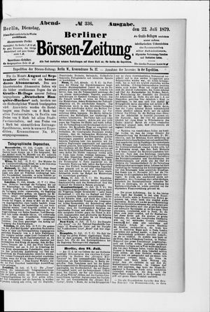 Berliner Börsen-Zeitung vom 22.07.1879