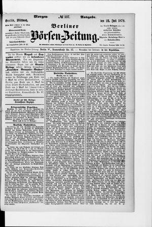 Berliner Börsen-Zeitung on Jul 23, 1879