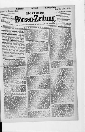 Berliner Börsen-Zeitung vom 24.07.1879