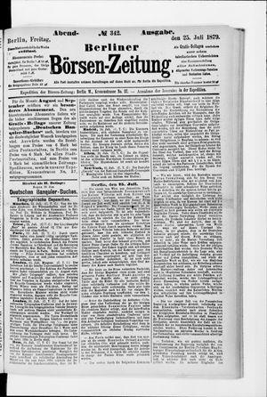 Berliner Börsen-Zeitung vom 25.07.1879