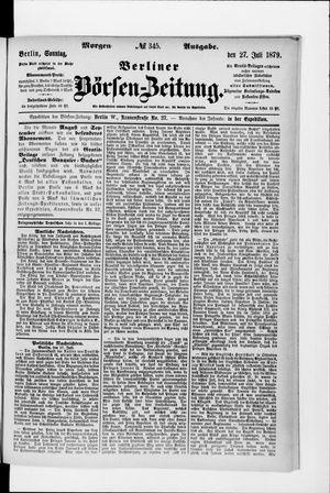 Berliner Börsen-Zeitung vom 27.07.1879
