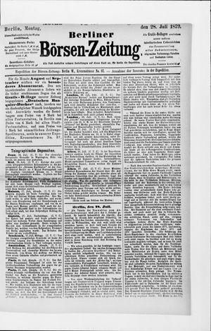 Berliner Börsen-Zeitung on Jul 28, 1879