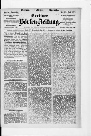 Berliner Börsen-Zeitung vom 31.07.1879