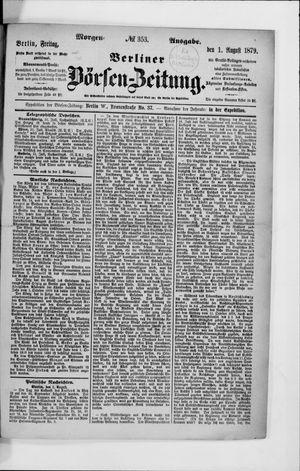 Berliner Börsen-Zeitung vom 01.08.1879