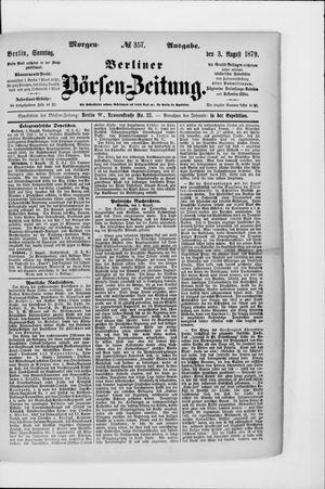 Berliner Börsen-Zeitung vom 03.08.1879