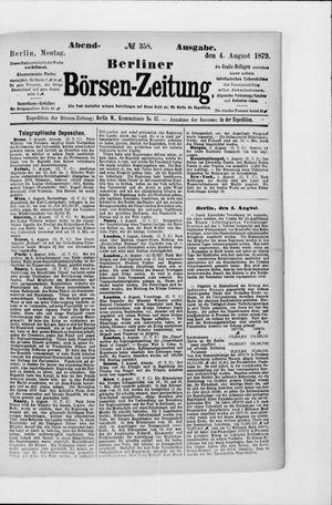 Berliner Börsen-Zeitung vom 04.08.1879