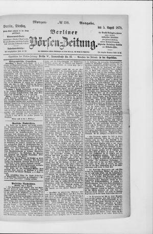 Berliner Börsen-Zeitung vom 05.08.1879