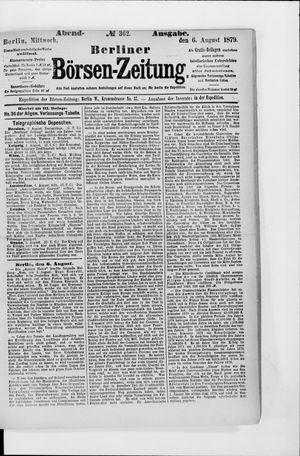 Berliner Börsen-Zeitung on Aug 6, 1879