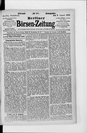 Berliner Börsen-Zeitung vom 09.08.1879