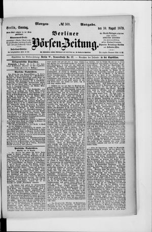 Berliner Börsen-Zeitung vom 10.08.1879
