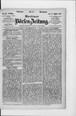 Berliner Börsen-Zeitung vom 12.08.1879