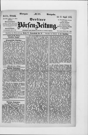 Berliner Börsen-Zeitung vom 13.08.1879