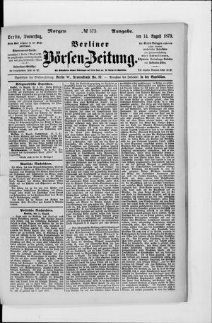 Berliner Börsen-Zeitung vom 14.08.1879