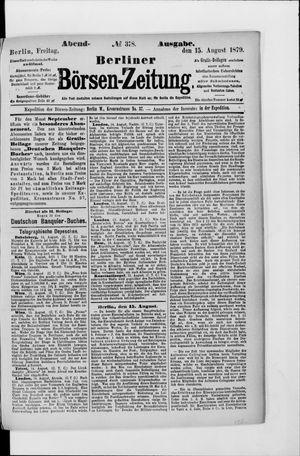 Berliner Börsen-Zeitung vom 15.08.1879