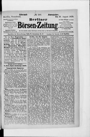 Berliner Börsen-Zeitung vom 16.08.1879