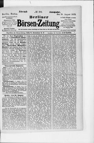 Berliner Börsen-Zeitung vom 18.08.1879