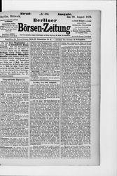 Berliner Börsenzeitung (20.08.1879)