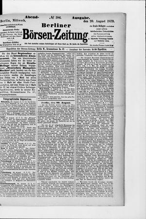 Berliner Börsen-Zeitung vom 20.08.1879