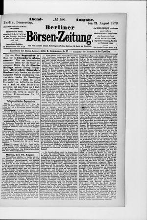 Berliner Börsen-Zeitung vom 21.08.1879