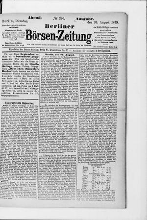 Berliner Börsen-Zeitung vom 26.08.1879
