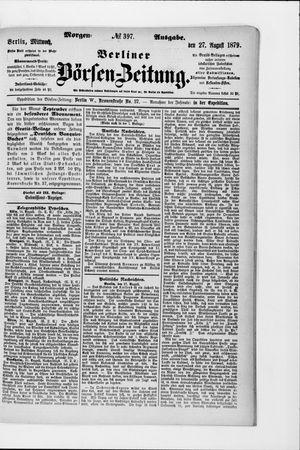 Berliner Börsen-Zeitung vom 27.08.1879