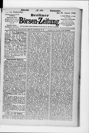 Berliner Börsen-Zeitung vom 28.08.1879