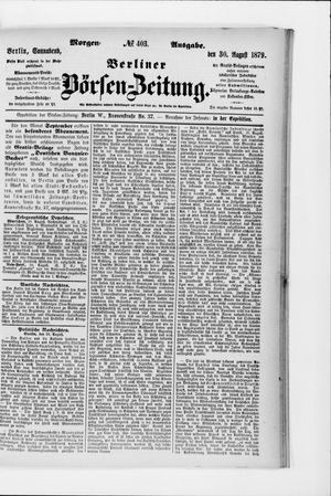 Berliner Börsen-Zeitung vom 30.08.1879