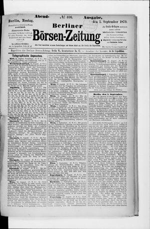 Berliner Börsen-Zeitung on Sep 1, 1879