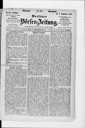 Berliner Börsen-Zeitung vom 02.09.1879