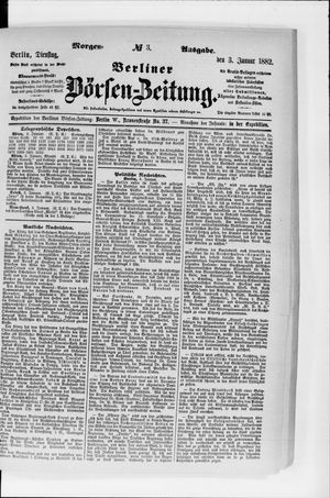 Berliner Börsen-Zeitung vom 03.01.1882