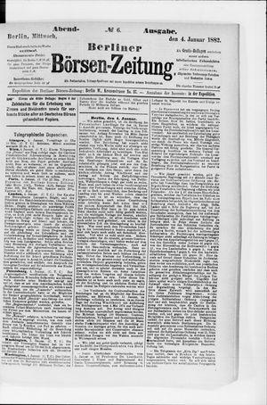 Berliner Börsen-Zeitung vom 04.01.1882