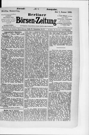 Berliner Börsen-Zeitung vom 05.01.1882