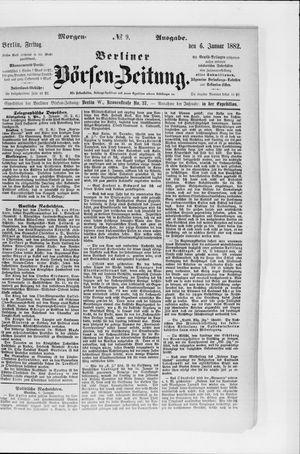 Berliner Börsen-Zeitung vom 06.01.1882